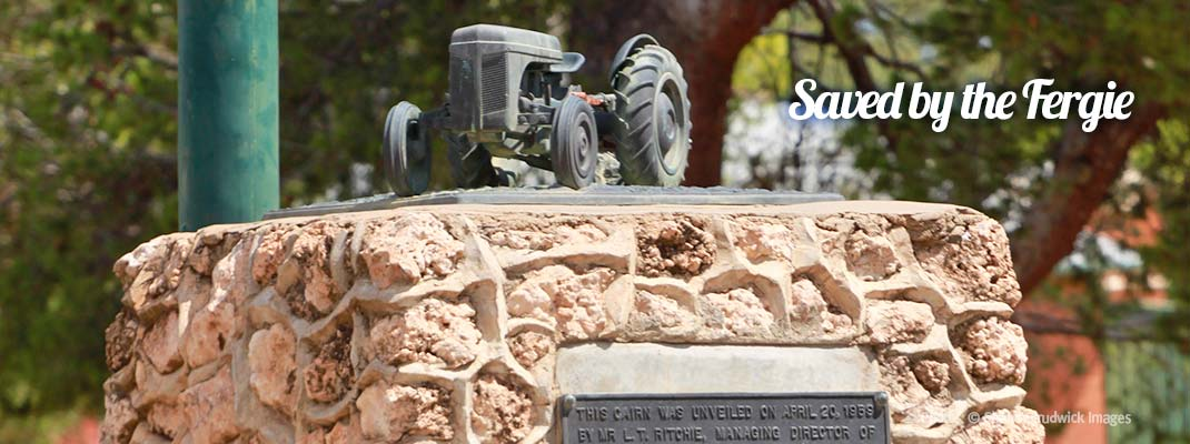 Fergie Tractor Monument - Discover Murray River