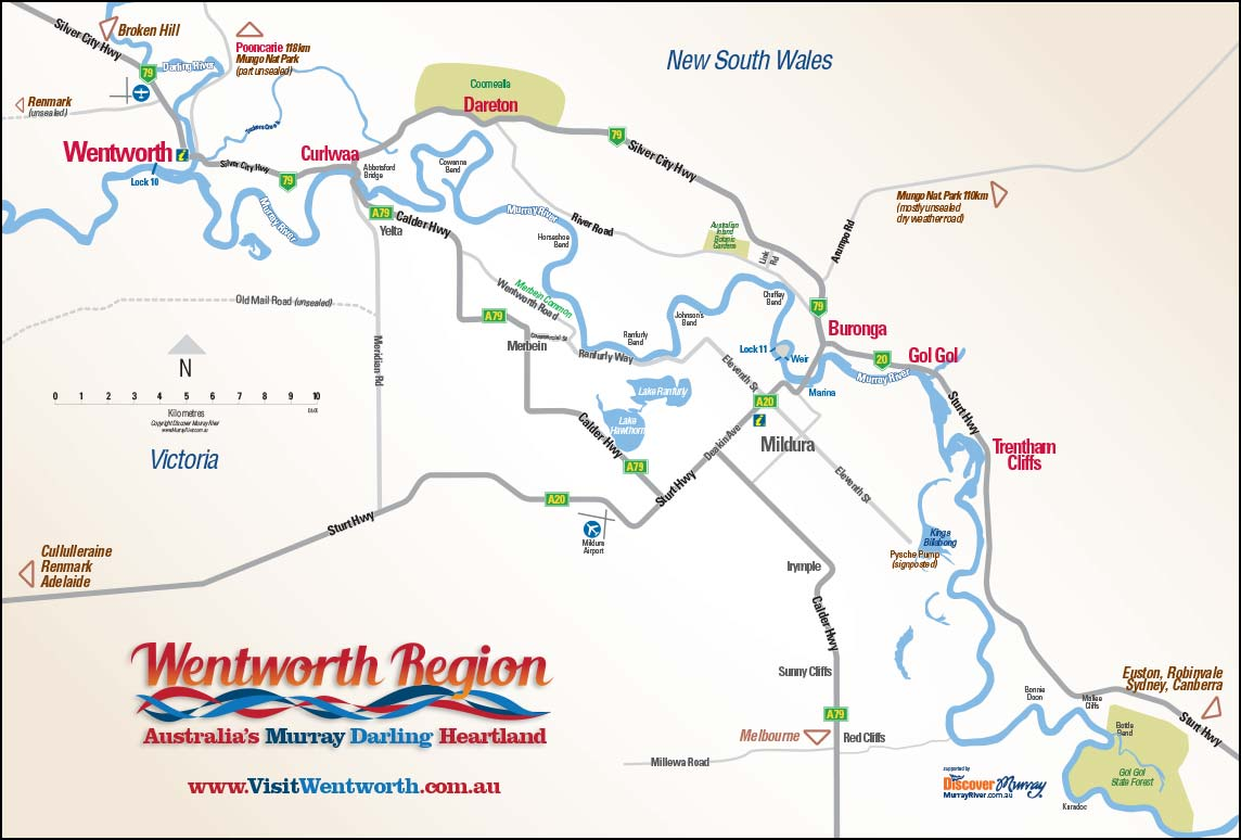 Wentworth region map