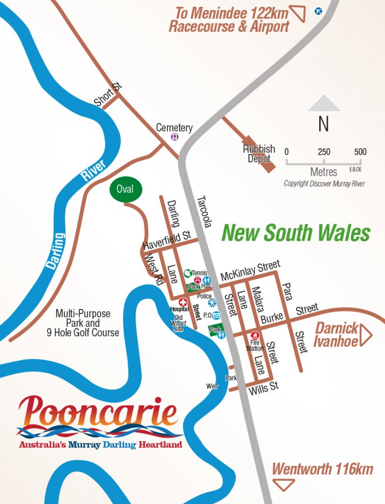 Pooncarie Town Map