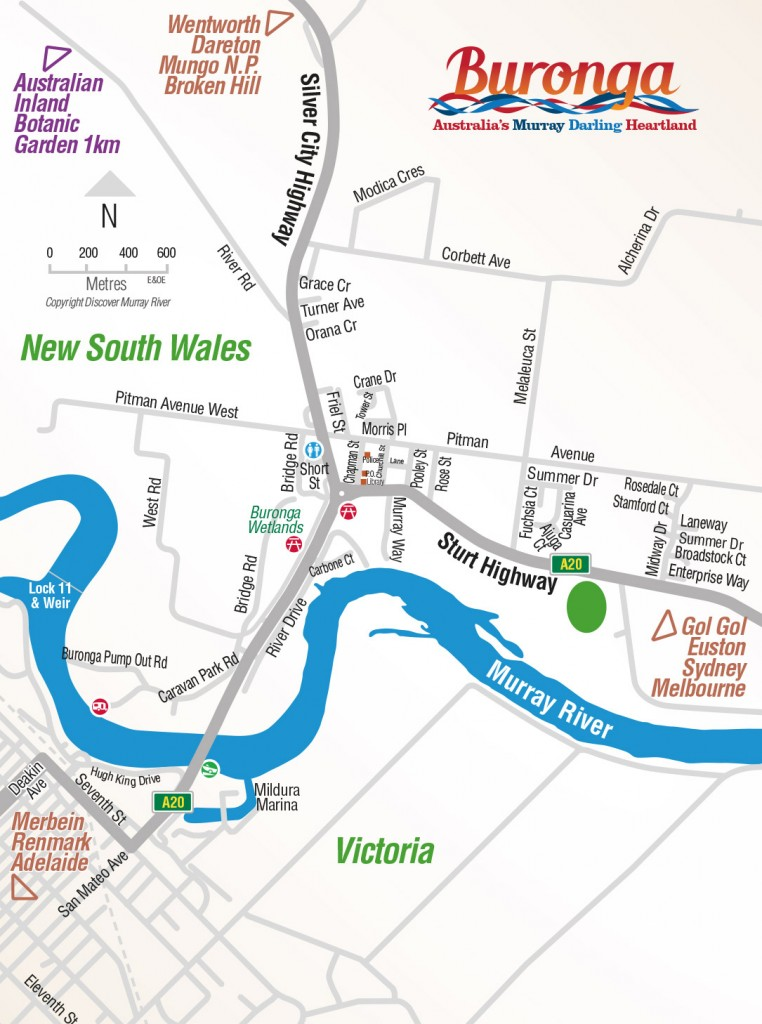 Buronga Town Map